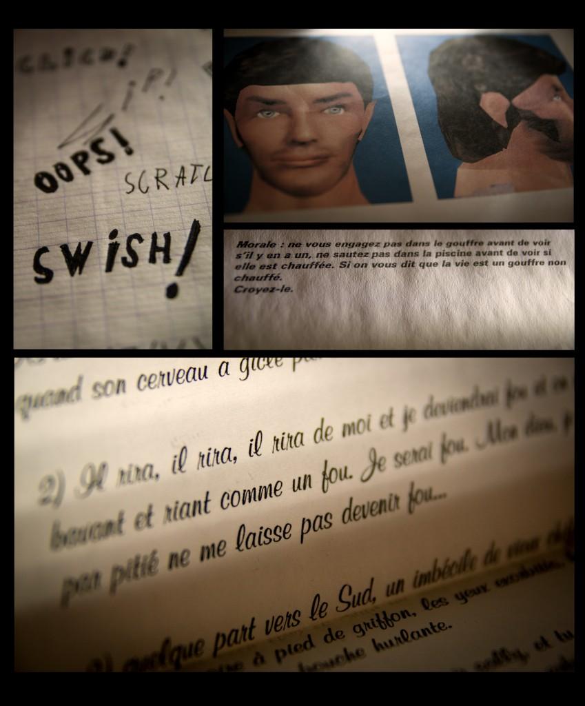 Je suis tombé sur un vieux carnet que je tenais quand j'étais au collège.